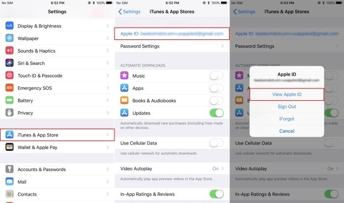 App Store Ver ID de Apple