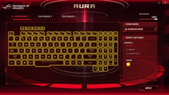 Asus GL503VD Aura Core