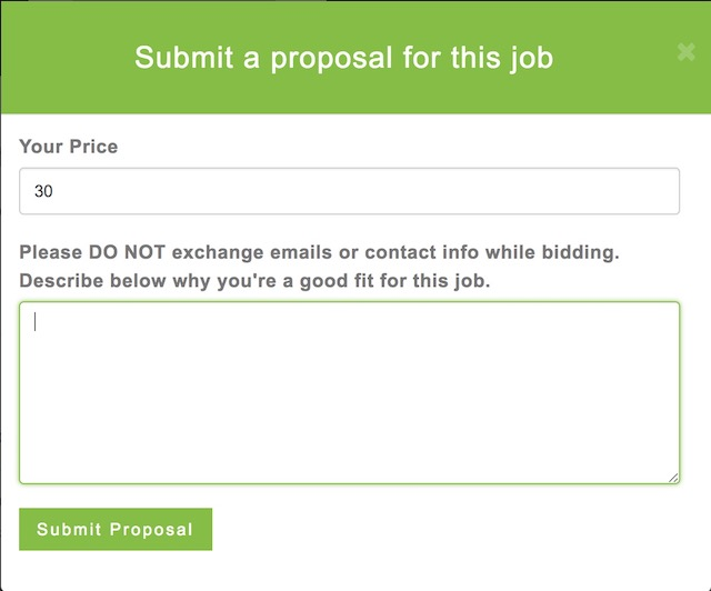 Easy Bidding Proposals