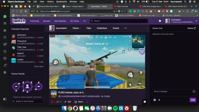 Streaming mostrando en PC