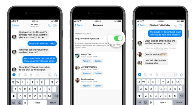 group-admin facebook messenger