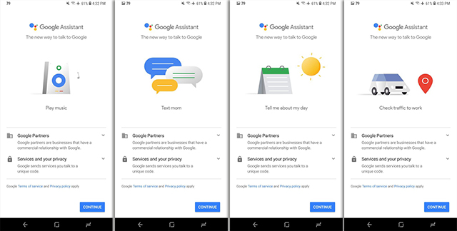Google Assistant Onboarding UI