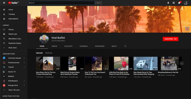 YouTube bug viral buffet