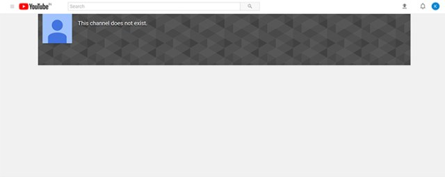 Youtube bug channel doesnt exist