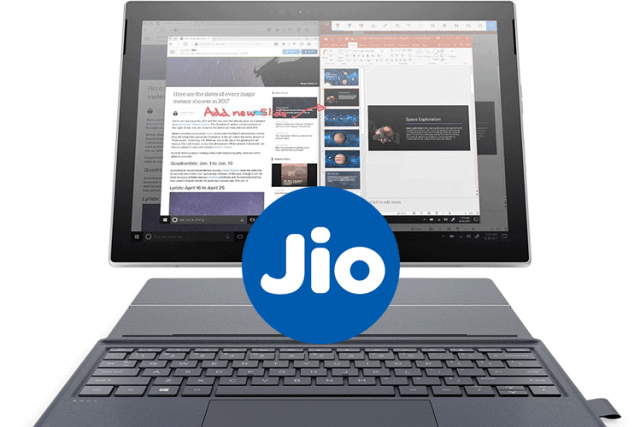 Reliance Jio plans WIndows PC with always-on 4G