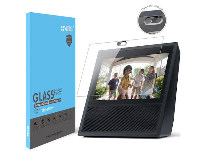 1. VMEI Echo Show Screen Protector and Webcam Cover