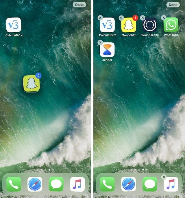 3. Move Multiple Apps in iOS 11
