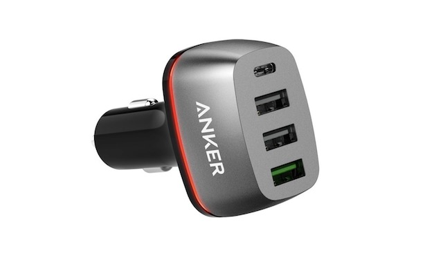 9. Anker Quick Charge 3.0 & USB Type-C Car Charger