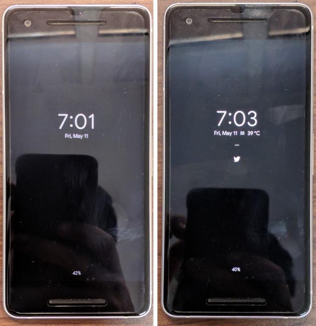 Vorher (links) und Nachher (rechts)