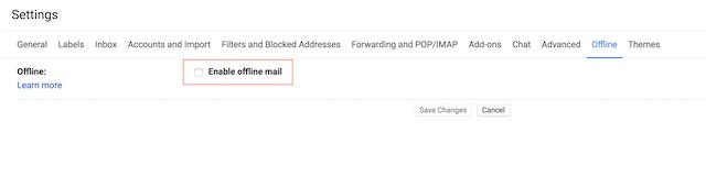 Enabling the New Offline Mode in Gmail 4