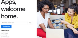 Google .app domain featured