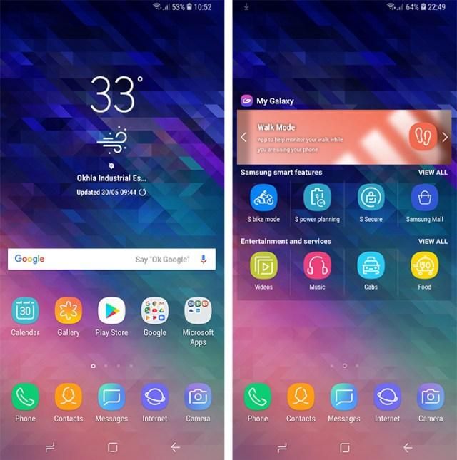 Samsung Galaxy A6 Plus UI