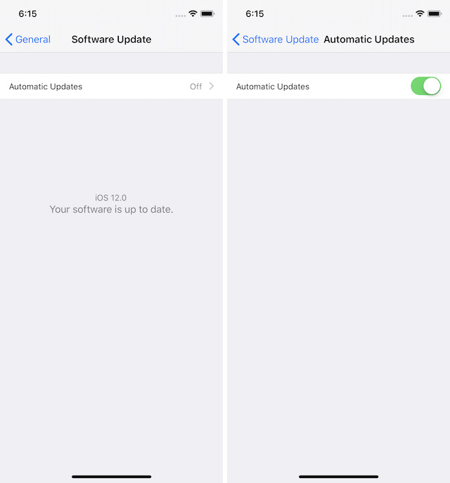 13. Enable Automatic iOS Updates