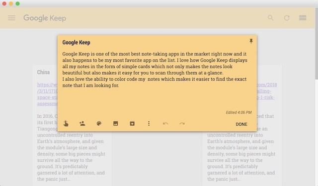 4. Google Keep