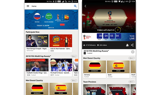 FIFA World Cup SonyLIV app screenshots1
