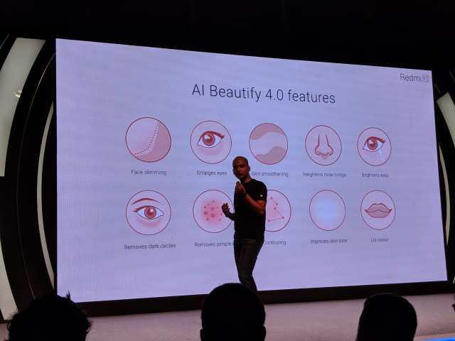 Redmi Y2's AI Beautify Modes