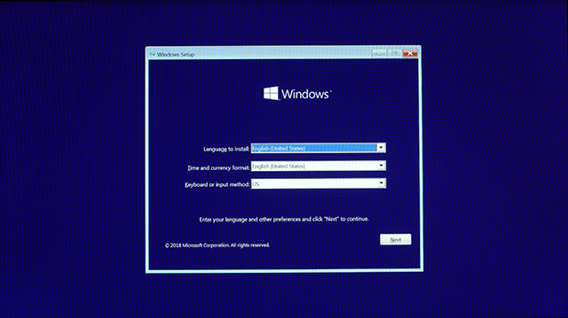 Install Windows 10 5