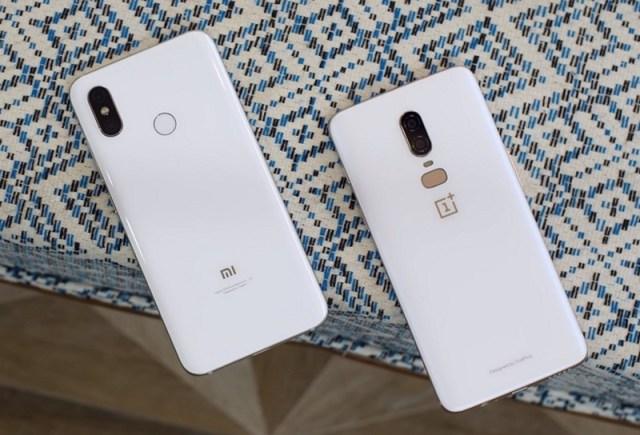 Mi 8 vs OnePlus 6 White
