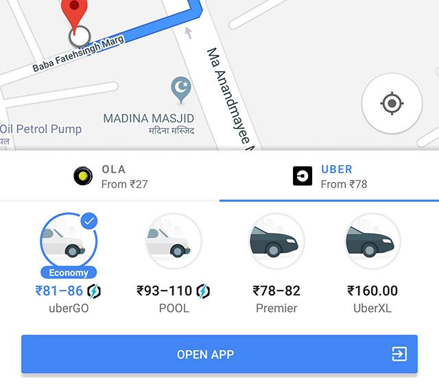 Uber Maps Integration