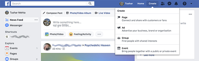 "Facebook Adds New ""Create"" Button to Make Users Use Ads, Events More Frequently"