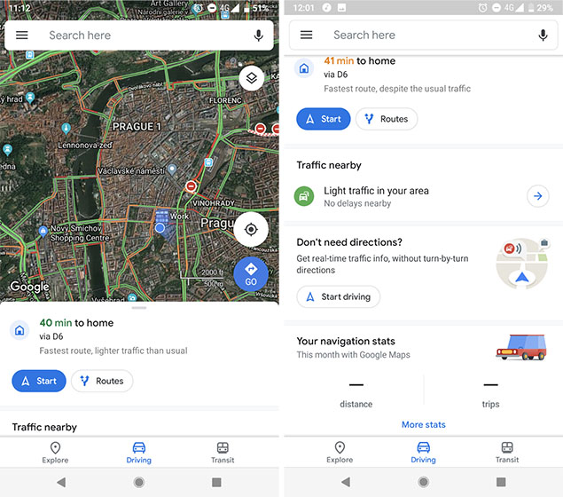 Redesigned Google Maps on Android Looks Like