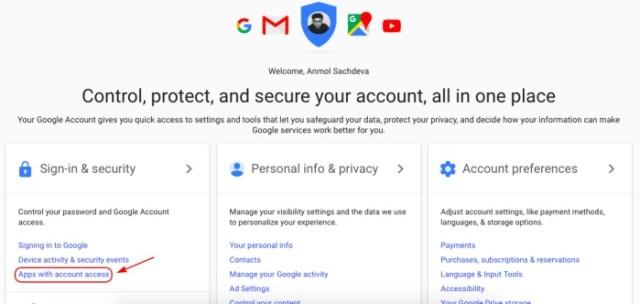 1 gmail revoke app access