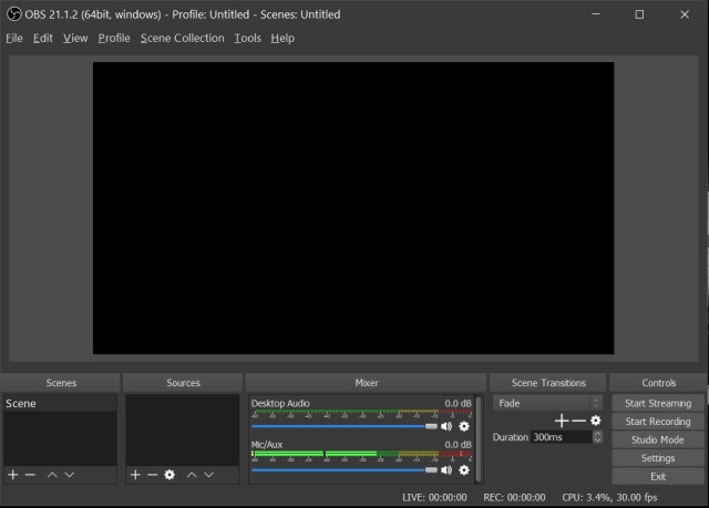 OBS Game Recording Software