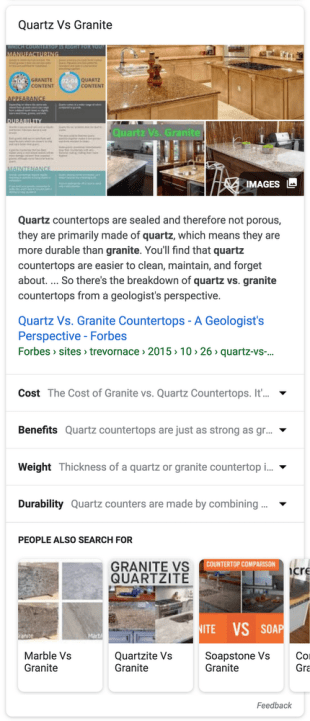 Google Search Featured Snippet