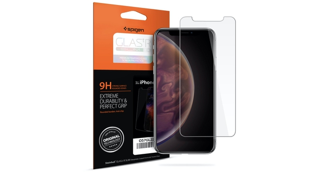 2. iPhone Xs Screen Protector by Spigen