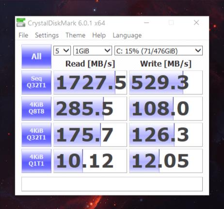 ZenBook 13 CrystalDisk Mark