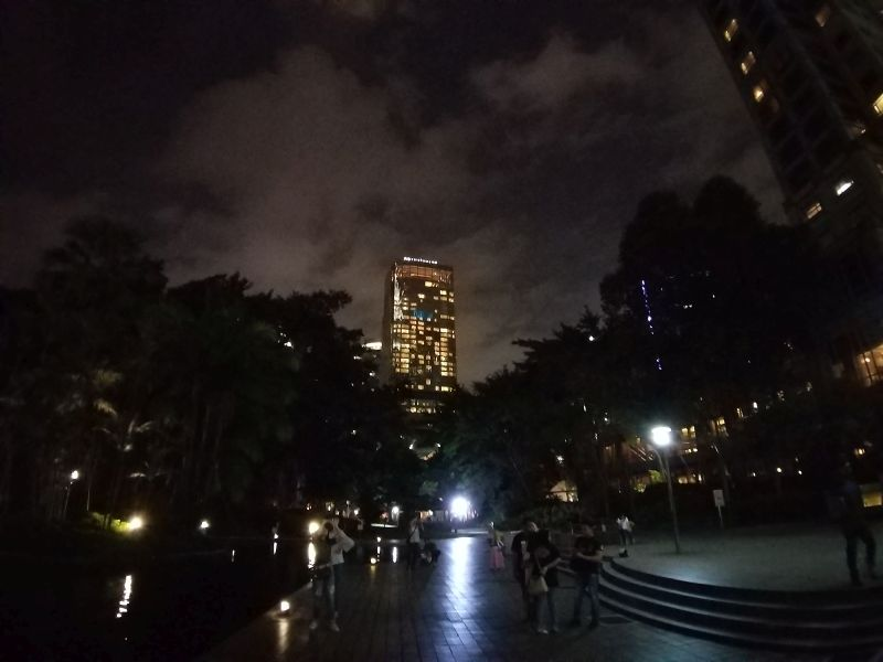 Galaxy A9 ultra wide lens outdoors in low light