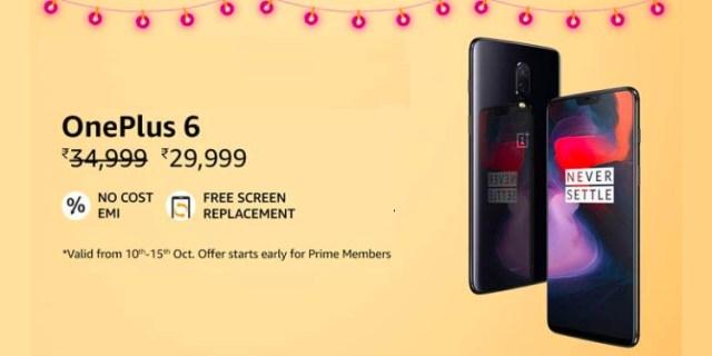 oneplus 6 discount amazon