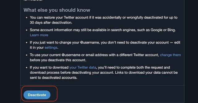2. Permanently Deleting Your Twitter Account on Web 3