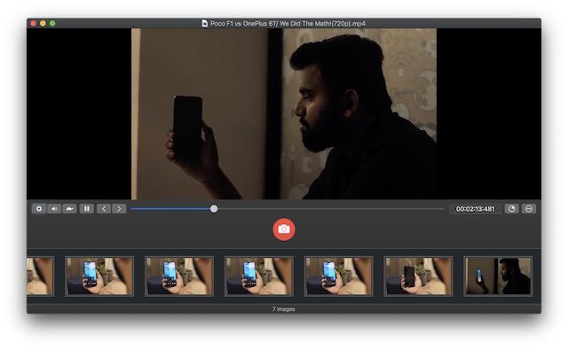 Ventana de edición de captura de pantalla de SnaoMotion