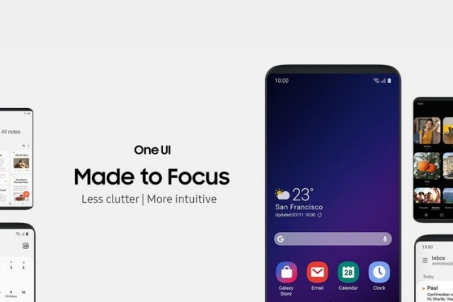 Samsung one UI software focus over hardware