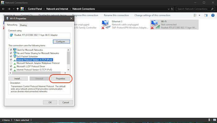 DNS_Probe_Finished_Nxdomain en un Windows00004