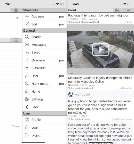 Приложение Reddit антенны для IOS