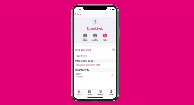 4. T-Mobile Call Blokcing сервис
