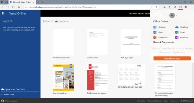 5. Microsoft Office Online