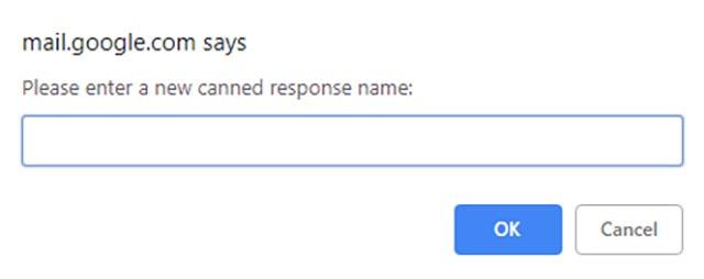 Консервированные ответы Gmail