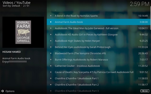 Kodi дополнения надстройки надстройки дополнения аудиокниги