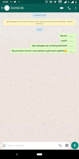 Contacto bloqueado de WhatsApp