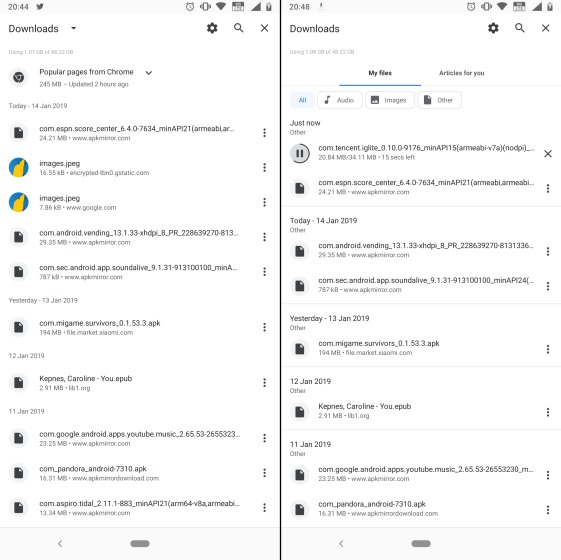 Изменение пользовательского интерфейса страницы загрузки Google Chrome