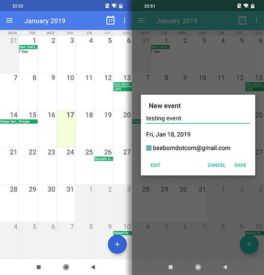 Приложения с открытым исходным кодом для Android etar календарь