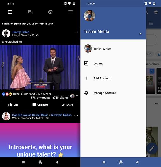 приложения с открытым исходным кодом для Android Frost Facebook