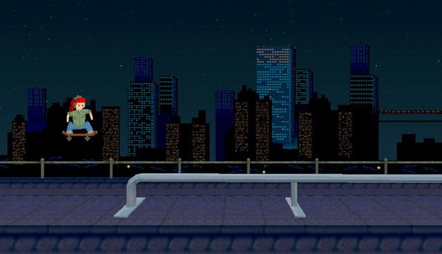 скриншот уличного скейтера
