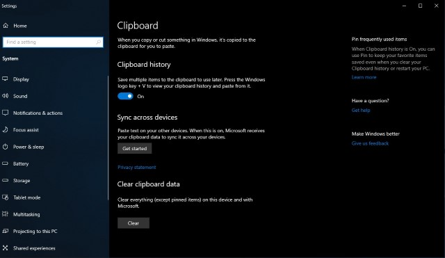 5. Windows Native Clipboard Manager