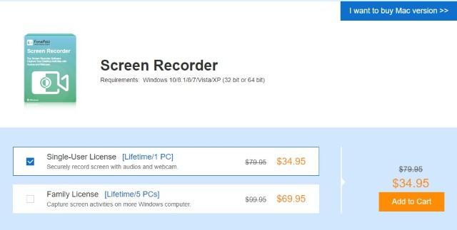 FonePaw Screen Recorder - Цены и доступность