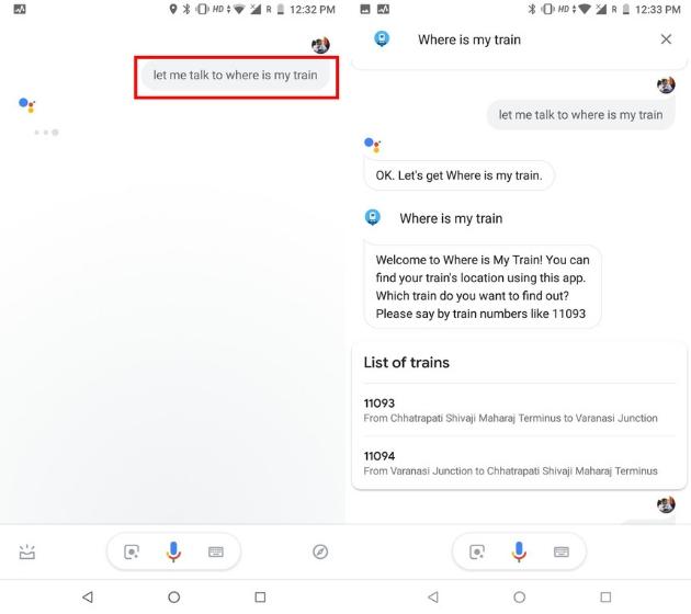 Compruebe la ubicación del tren con el Asistente de Google 1