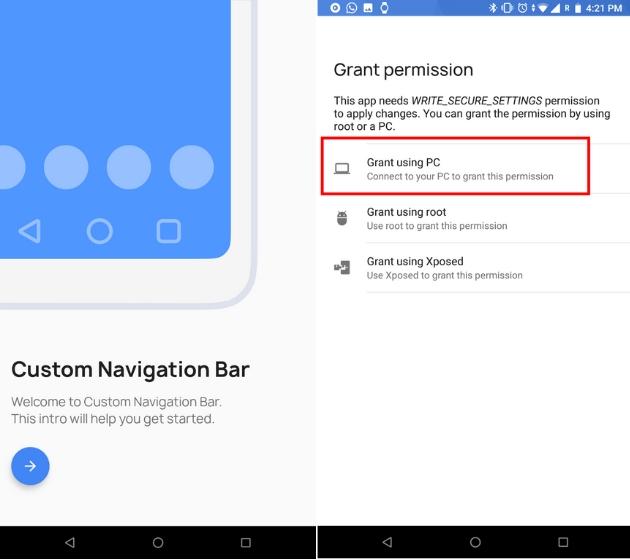 Настройте панель навигации на Android 1